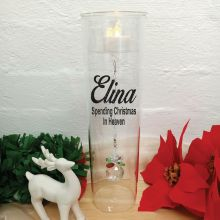 Christmas In Heaven Candle Holder Crystal Sphere