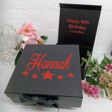 90th Birthday Keepsake Hamper Gift Box Black