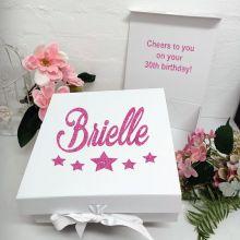 30th Birthday Keepsake Hamper Gift Box White
