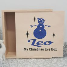 Personalised Wooden Christmas Box Large - Snowman