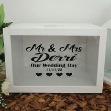 Personalised Mr & Mrs Wedding Wishing Well Card Box
