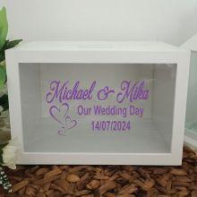 Personalised Wedding Wishing Well Card Box