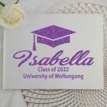 Graduation Guest Book Keepsake Album - White A4
