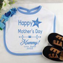 Personalised 1st Mothers Day Bib - Boy