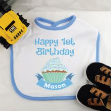 Personalised 1st Birthday Baby Boy Bib