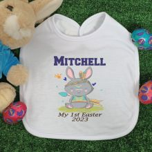 Personalised Easter Bib - Tribal Bunny