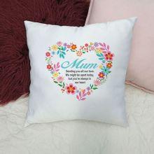 Mum Cushion Cover - Floral Heart