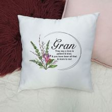 Personalised Grandma Cushion Cover - Spring Frame
