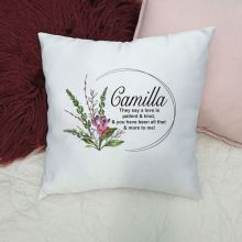 Personalised Cushion Cover - Spring Frame