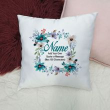 Personalised Cushion Cover - Watercolour Blue