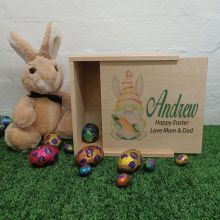 Personalised Wooden Easter Box Small - Easter Gnome
