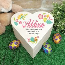First Easter Heart Box - Coloured Eggs