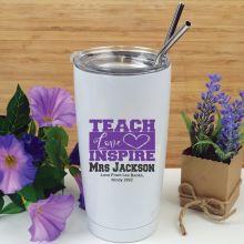 Teacher Love Inspire Tumbler Travel Mug 600ml