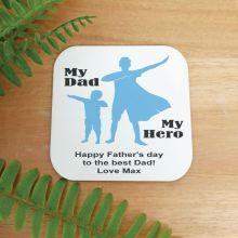 Personalised Dad My Hero Magnet