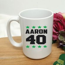 Personalised 40th Birthday Coffee Mug 15oz Star