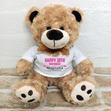 30th Birthday Number Bear Brown Plush - Malcolm
