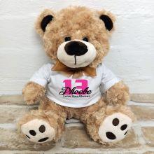 13th Birthday Number Bear Brown Plush - Malcolm