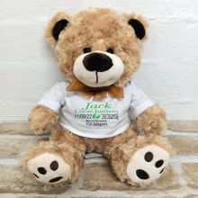 Personalised Baby Birth Details Bear Brown Plush - Malcolm