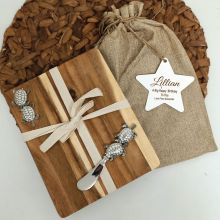 Birthday Oval Bamboo Cheese Board -Turtle