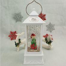 Personalised Christmas Light Up Lantern - Elf