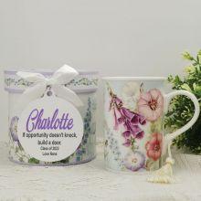 Graduation Mug with Personalised Gift Box Hummingbird