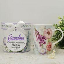 Grandma Mug with Personalised Gift Box Hummingbird