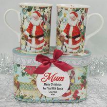 Christmas Mugs in Personalised Box for Mum