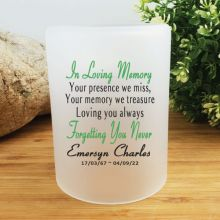 Personalised Memorial Tea Light Candle Holder - Loving Memory