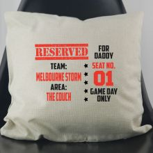 Game Day Ticket Personalised Cushion Cover
