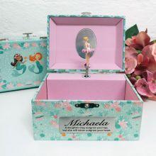 Personalised Mermaid Music Jewelley Box