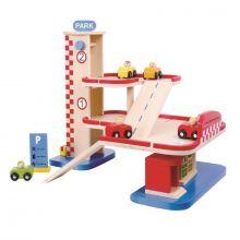 Wooden Car Park Garage - Tooky Toy