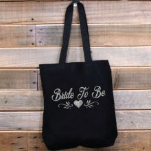Bride Tote Bag Glitter Print