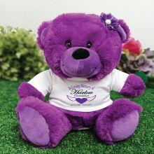 In Loving Memory Memorial Teddy Bear Purple