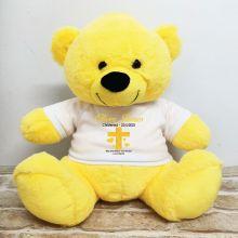 Christening Personalised T-Shirt Bear 40cm Yellow