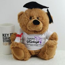 Personalised Graduation Bear with Mortar Board