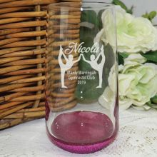 Gymnastic Coach Engraved Personalised Glass Tumbler