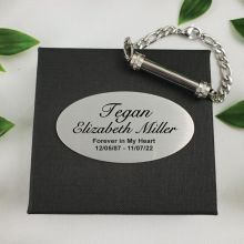 Cremation Ash Urn Bracelet In Personalised Box