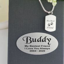 Pet Memorial Urn Cremation Ash Necklace In Personalised Box