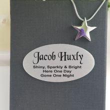 Star Memorial Urn Cremation Ash Necklace In Personalised Box