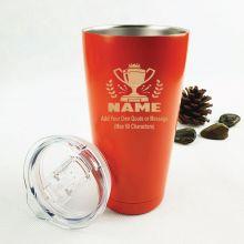 Pop Insulated Vacuum Travel Mug 600ml Orange