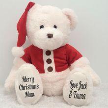 Personalised Christmas Teddy Bear Plush - Mum