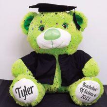 Personalised Graduation Bear Hollyood Lime 40cm