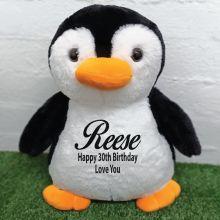 30th Birthday Bear 40cm Pecky Penguin Plush