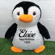 60th Birthday Bear 40cm Pecky Penguin Plush