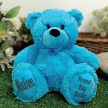 Big Sister Teddy Bear 30cm Bright Blue
