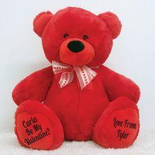 Personalised Valentines Bear 40cm Plush Red