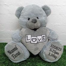 Baby Love Bear With Grey Heart 40cm
