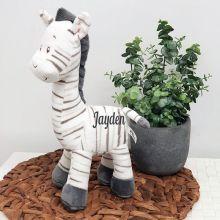 Personalised Safari Zebra 30cm