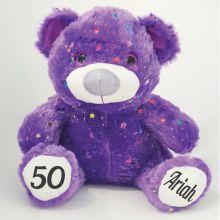 50th Birthday Teddy Bear 40cm Hollywood - Purple
