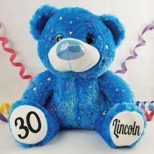 30th Birthday Teddy Bear 40cm Hollywood Blue